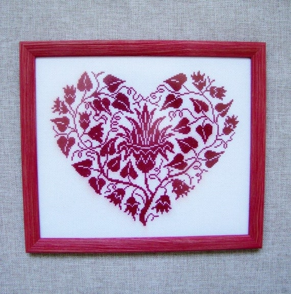 Wall Decor Cross Stitch : Cross stitch picture wall d?cor gift for each embroidered