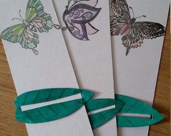 Butterflies bookmark set - with linemark