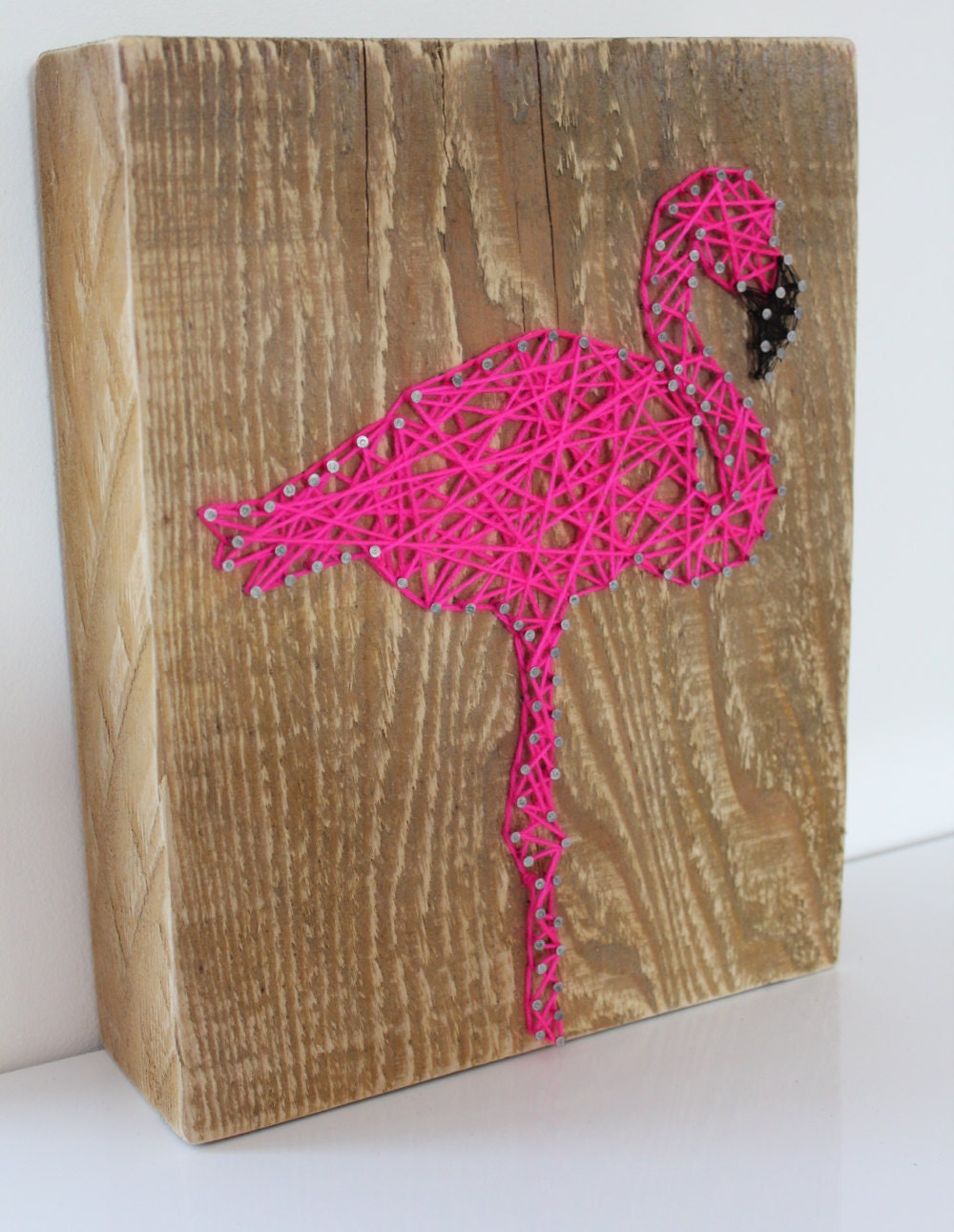 Decorative pink flamingo in string art from camilorigami on etsy studio - String art modele ...