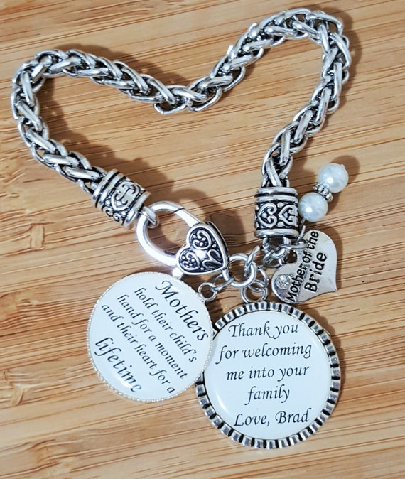 Mother of the Bride Gift Mother of the Bride Bracelet Wedding Gifts for Mother in Law Mother in Law Bracelet Mother in Law Gift