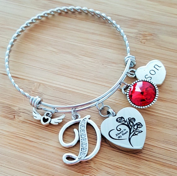 Urn Bracelet Urn Jewelry Sympathy Bracelet Sympathy Gift In Memory of Son Memorial Bracelet Loss of Son Loss of a Child Remembrance Bracelet