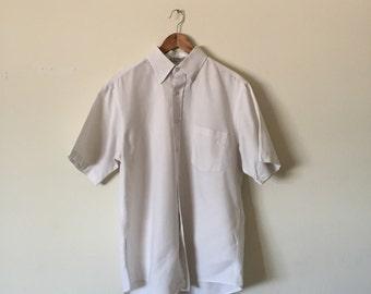 medium white Van Heusen button-up
