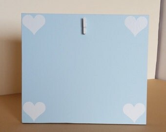 Small Light Blue picture frame, Heart picture frame, picture frame, 4 x 6 Picture frame, picture frame, baby shower gift, baby picture frame