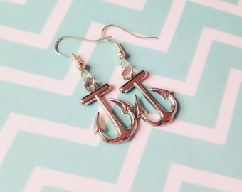Anchor Earrings, nautical earrings, summer earrings, summer trends, summer fashion, sea earrings, pinup sailor earrings, sailor fashion