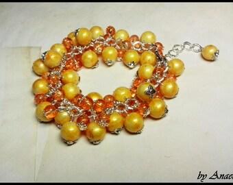 A Beaded Bracelet Bunch - Sunshine