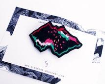 "Embroidered brooch "" Precious landscape no20 """