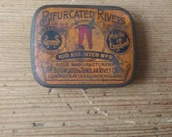 Bifurcated Rivets Collectible Tin