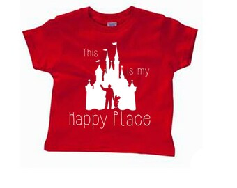 Toddler Disney Shirts This is my Happy Place Shirts Disneyland Shirts Disney World Shirts womens Shirts Magic Kingdom