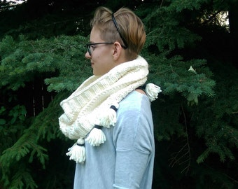 Infinity Scarf with Tassels