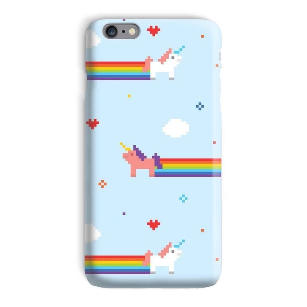 Pixel Art IPhone Case Unicorn Iphone 7 Case Rainbow Iphone 6