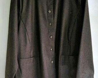RODIER veste surchemise lainage gris anthracite taille L 46/48 TTBE vintage 90's