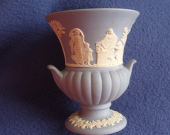 small blue WEDGWOOD vase