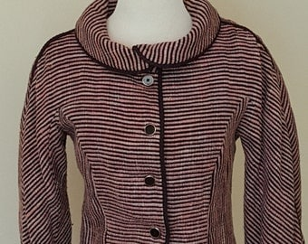 1950's Pink and Black Piping Jacket