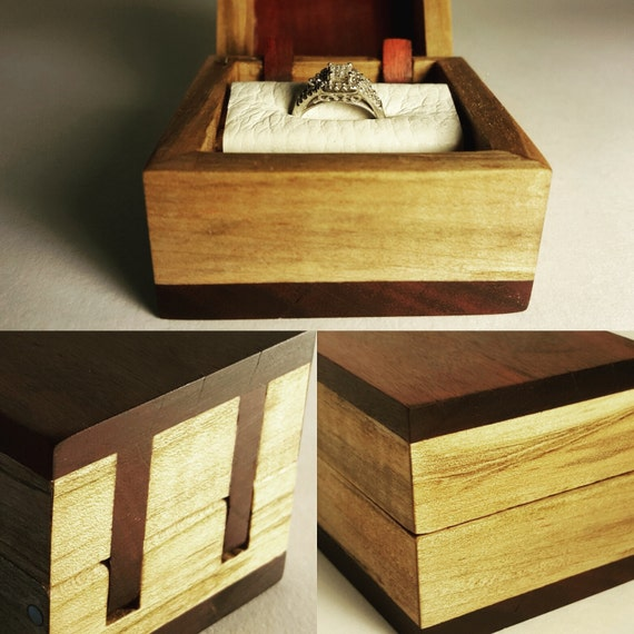 handmade ring box engagement ring box by currentcreationsus