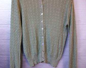 Vintage Silk Cardigan, Vintage Cardigan, Silk Sweater, Vintage Sweater