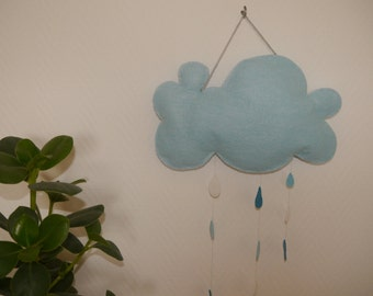 Cloud blue felt to suspend
