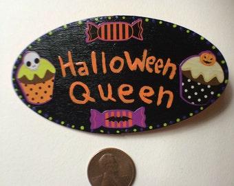 Halloween Queen Creepy Cupcake pin