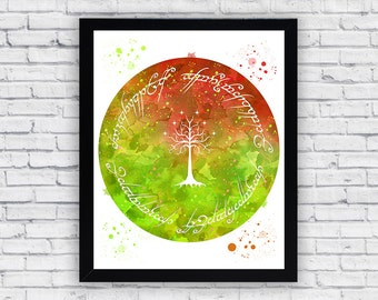 Lord Of The Rings Watercolor print, Lord Of The Rings  Printable Wall Art, Lord Of The Rings  poster