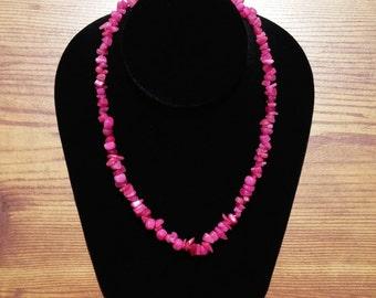 Necklace / Bracelet Jade Fuchsia