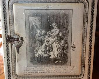 Antique Schepp's bakery cake box bakery advertising tin lithography Grothe Lotte Dorothea