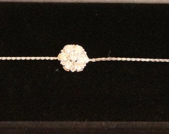 Vintage Diamond Bracelet, 14k white gold