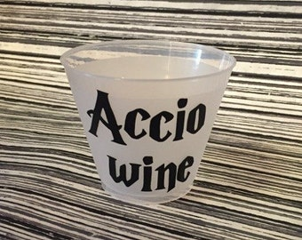 "Harry Potter Party Cups ""Accio Wine""  (12)"