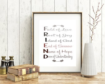 Friendship Quote - Inspirational Quote Print - Inspirational Friendship Quote - Wall Art Decor - Friendship Gift - Gift For Friend