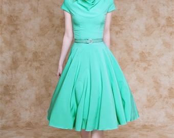 Short mint dress with cap sleeves/ Short mint bridesmaid dress/ Midi mint dress/ Mint wedding dress/ Midi bridesmaid dress with cap sleeves