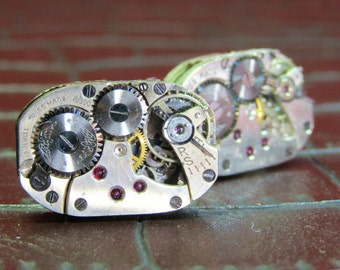 ROTARY Vintage Watch Movement Cufflinks
