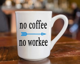 No Coffee, No Workee Coffee Mugs!