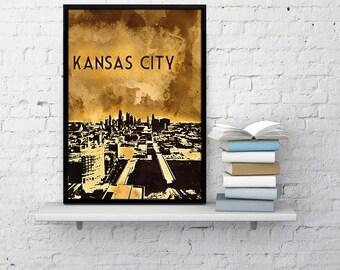Kansas City Wall Art kc wall art | etsy