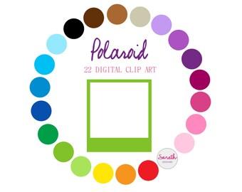POLAROID 22 Digital Clip Art