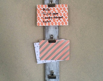 Personalized Vertical Photo/List Wall Clips