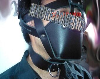 Leather Muzzle Head Harness
