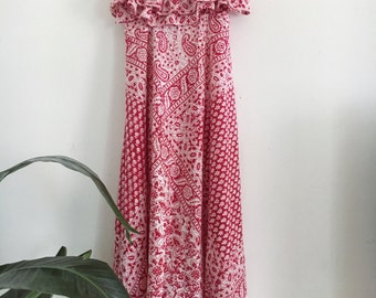 70s Maxi Homemade Paisley Dress