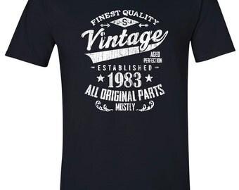 1983 birthday, 1983 shirt, 1983 T-Shirt, 1983, 1983 birthday shirt, Any Year Available V83