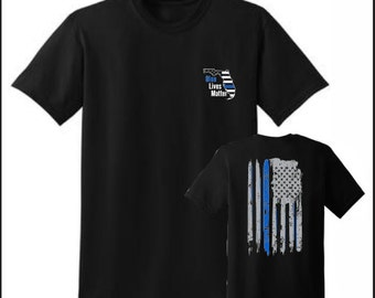 BLUE LIVES MATTER Florida Tee