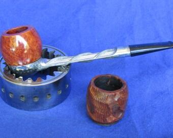 Koolsmoke Aluminum Stem Brair bowl Estate Pipe w/ Extra Bowl (K-39)