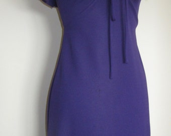 1970 Halter neck evening dress. purple. Made in England. lovely fitting