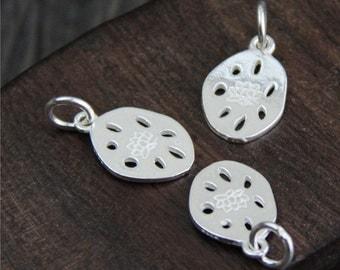 Sterling silver lotus root charm,Silver Lotus Root Pendant,sterling silver lotus pendant,Sterling Silver lotus flower,yoga jewelry