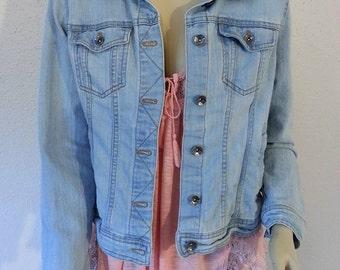 Light Blue Denim Jacket petite medium
