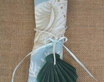 Pure Beeswax Seashell Ornament / Nautical Ornaments