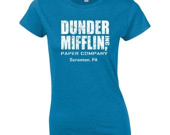 Dunder Mifflin costume tv show office party college halloween retro vintage - Apparel Clothing - womens T-shirt - 072