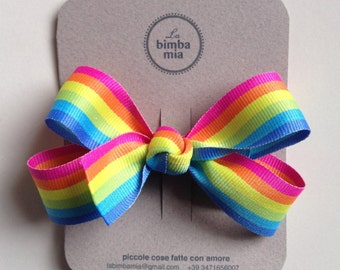 Moletta Grosgrain Ribbon grosgrain Ribbon Rainbow-Hair Bow
