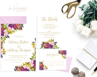 Printable Wedding Invitation Suite / Wedding Invite Set - The Whitney Suite