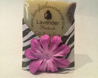 Lavender Essential Oil w/Brazilian Clay | Dirty Little Secret Soap Co. | Natural Soap | Handmade Soap | Vegan Soap