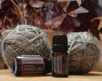 Set of 2 Felted Wool Dryer Balls, DoTerra Lavender Oil