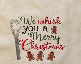 Christmas Whisk Tea Towel