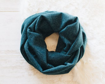 Teal Infinity Scarf / Blue Scarf / Cowl Scarf / Womens Scarves / Chunky Scarf / Gift for Her / Sparkly Scarf / Fashion Scarves