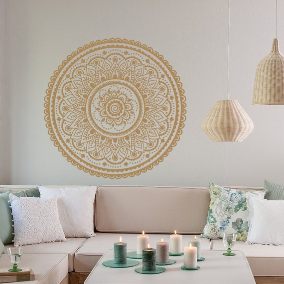 Mandala Wall Decal Vinyl Sticker Mandala Wall Art by HomyVinyl